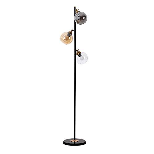 Lámpara de pie creativa Moderna lámpara de pie, el poste de metal ligero con pantalla de vidrio colgantes, de pie lámparas de poste for sala de estar Oficina Dormitorio 3 colores E27 Luz de piso