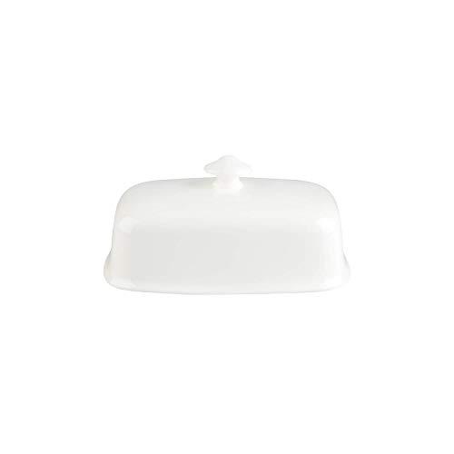 Villeroy & Boch Royal Butterdose Oberteil, Premium Bone Porzellan, Weiß