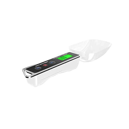 Sxiocta Cuchara Balanza en polvo Balanza de cuchara medidora electrónica Pantalla LCD Cocina Cuchara con peso digital para alimentos, 500g / 0.05g, Blanco (Batería no incluida)