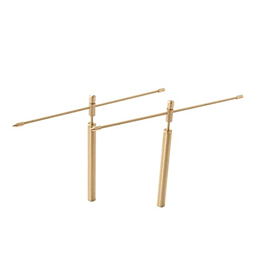 1Pair Down Rod, Detector Ajustable Herramienta Desmontable Al Aire Libre Dowsing Rod Professional, Buscando Agua Subterránea O Minerales Utilizando Una Barra De Dowsing ( Color : Gold )