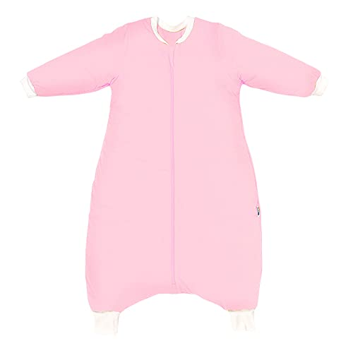 Schlummersack Schlafsack mit Füßen Winter 110 cm 3.5 Tog rosa   Kinder Schlafsack mit Beinen für eine Körpergröße 110-120cm   Ganzjahres Schlummersack mit Füßen 3.5 Tog