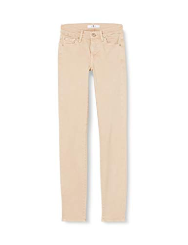 7 For All Mankind The Jeans Skinny, Beige (Beige Pp), W25/L29 (Taglia Unica: 25) Donna