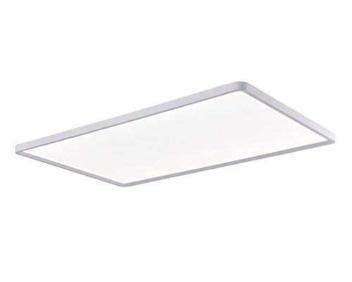 Luces LED para Sala De Estar Techo Blanco Aluminio Plano Ultradelgado Rectángulo Plafones Regulable con Mando Distancia Salón Dormitorio Oficina Estudiar Sala De Lectura Lámpara,L80cm×w40cm/42w