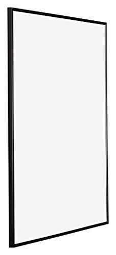 yd. - 70x100 cm - Cadres Photos en Plastique avec Verre Plexiglas - Excellente Qualité - Noir Brillant - Plaque de Verre Résistant Aux UV - Anti-Reflet - Cadre Decoration Murale - Evry.