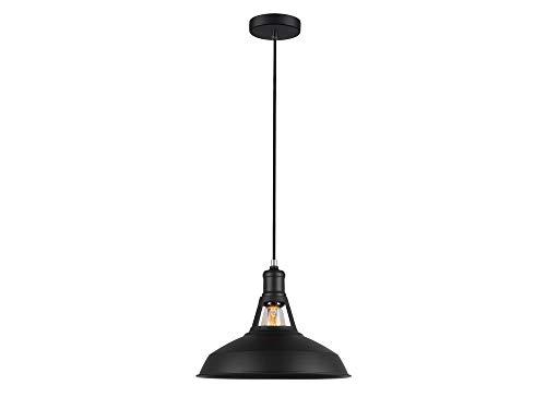 Luminaire Détroit gm, suspension métal, 40 W, noir, ø 31 x H 24 cm