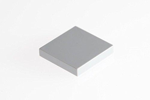 LEGO CITY - 100 Fliesen in neuen hellgrau mit 2x2 Noppen Kacheln Glatte Platten - 3068