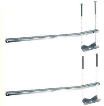 Monchy 008758 Tendedero para barandilla sin poleas Pareja, Metal, Gris, 0.59x2.6x1.5 cm