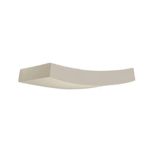 SLV Wandlamp Curve GL 102 wit, gips overschilderbaar met muurverf en staal, breedte 36 cm, kwartshalogeenlamp R7s 78 mm 230 volt max, 100 W- 148012