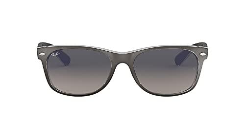 Ray-Ban New Wayfarer, Gafas de Sol Unisex adulto, Gris (Gunmetal and Transparent 614371), 52 mm