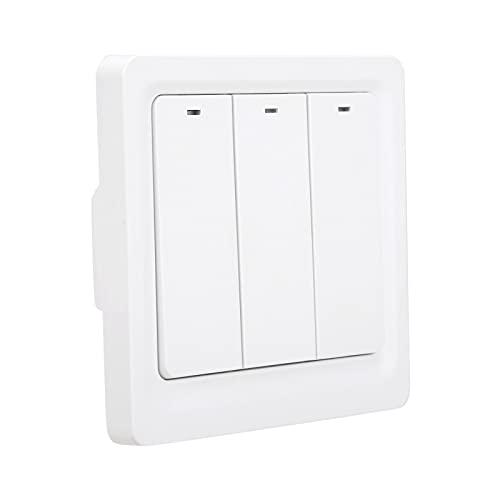 Interruptor de luz inteligente, elegante interruptor de luz de pared inteligente para altavoces inteligentes para TUYA(ZigBee)