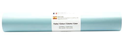 Vinyl Folie selbstklebend 3m versch. Farben Folie Pastell-Blau-Matt