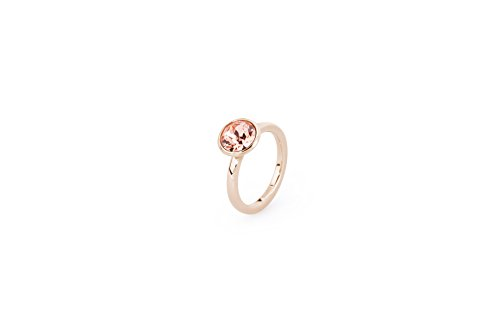 Brosway - IRONIA - Anello TRING mis.16 acciaio pvd rosa e swarovski rose peach BTGC88C