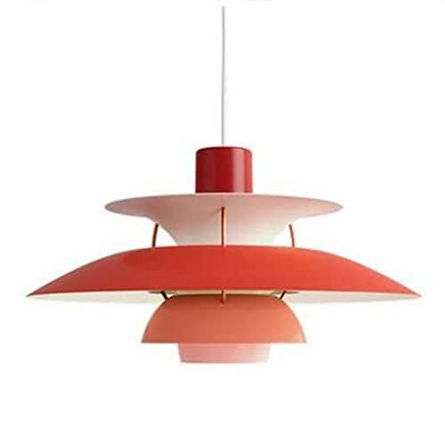 MZBZYU ṖḤ5 Simple Lámpara Colgante Gradiente, LED Candelabro Creativa Moderna Lámpara Techo Iluminación Decoraciones Interior Comedor Dormitorio Estudio 30 cm