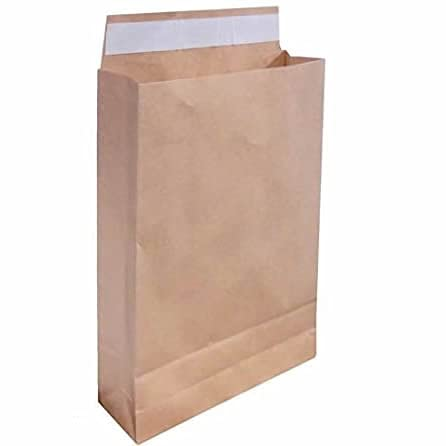 宅配袋(大) 封かんシール付 無地紙茶 200枚セット