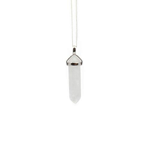 Züssi Bergkristall Ketten-Anhänger Awareness Hochwertiger Edelstein Schmuck-Anhänger für Halskette - für Damen und Herren