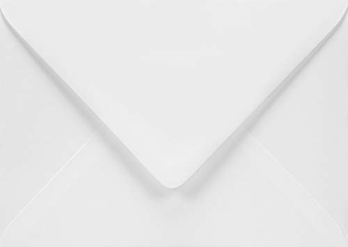50 Weiß Brief-Umschläge DIN B6 ohne Fenster Spitzklappe Nassklebung 125x175 mm 120g Aster Smooth White Briefumschläge Weiß für Einladungs-Karten Geburtstags-Karten Glückwunsch-Karten