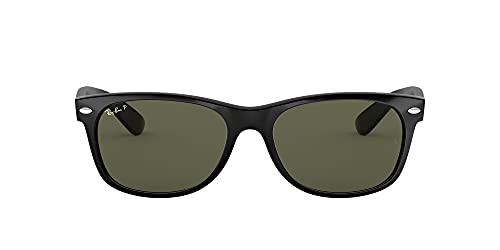 Ray Ban RB2132 Wayfarer Sonnenbrille Wayfarer Polarized,Schwarz (55 m),, Black Brown Color Mix, 55 mm