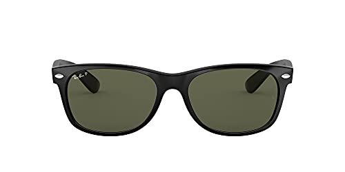 Ray-Ban - Gafas de sol Rectangulares New Wayfarer MOD. 2132 SOLE, Color Black, Talla 55 mm