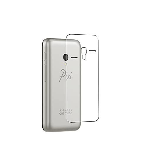 Vaxson 2 Stück Rückseite Schutzfolie, kompatibel mit Alcatel Pixi 3 4.0寸 Unite 4013D A466bg, Backcover Skin TPU Folie [nicht Panzerglas/nicht Front Bildschirmschutzfolie]