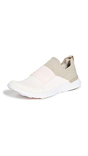 ATHLETIC PROPULSION LABS Women's Techloom Bliss Sneakers, Taupe/Nude/Pristine, Tan, Off White, 7.5 Medium US