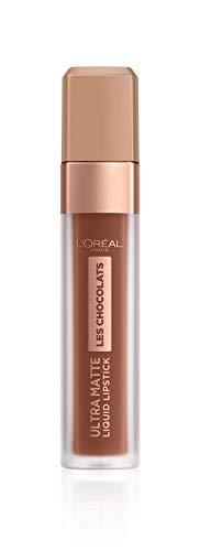 L'Oréal Paris, Rossetto Matte Liquido Tinta Labbra a Lunga Tenuta, Collezione Les Chocolats, Confezione Singola, 866 Truffa Mania