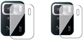 شاشة حماية مرنة مضادة للصدمات بتنقية نانو لعدسات كاميرا موبايل شاومي بوكو X3 GT - شفافة - قطعتين