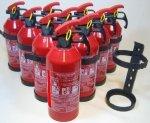 10 Stück Feuerlöscher GP-1Z ABC 1kg Sicherungsstift Halterung (Autofeuerlöscher)