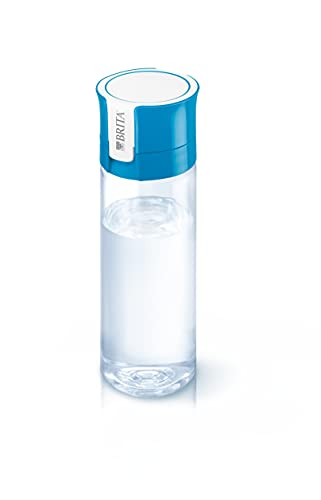 BRITA Gourde filtrante transparente bleue - 1 filtre MicroDisc inclus