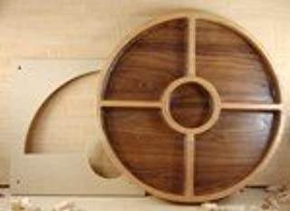 Woodline Bowl and Tray Template Quarter Section w/ Center Bowl