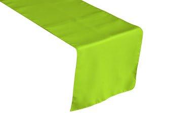 LA Linen Polyester Poplin Table Runner 14 by 108-Inch, Lime
