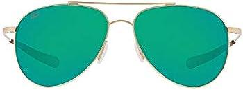 Costa Del MarCook Green Mirror 580P Polarized Aviator Sunglasses