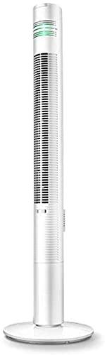 wangYUEQ Ventilador de torre, silencioso y oscilante, ventilador de torre de pie, temporizador y control remoto de área amplia, curva de viento Lasko con ionizador de aire fresco, blanco (color: A)
