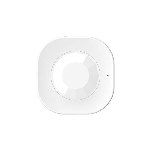 FENGCHUANG Tuya Mini sensor de movimiento PIR, detector de WiFi móvil infrarrojo de cuerpo humano, sensor de alarma antirrobo de seguridad remota, compatible con la aplicación Tuya/Smart Life