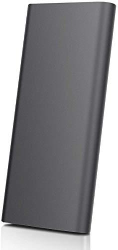 Externe Festplatte, tragbar, 2 TB – Externe Festplatte USB 3.1 für PC, Mac, Laptop (2TB, Schwarz)