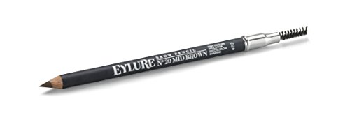 Eylure Brow Defining and Shading, Firm Pencil, Brow Crayon, Dual Ended, 20 Mid Brown