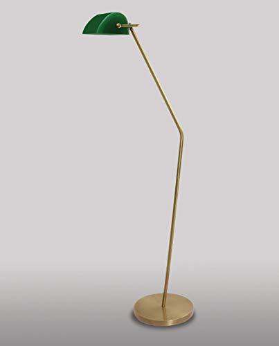 Stehlampe Jugendstil Echt-Messing Glas Handarbeit verstellbar MINISTERO XXL Bankerlampe Wohnzimmer