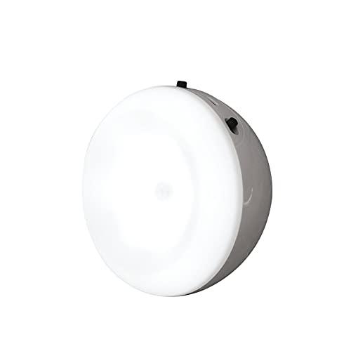 Luz de sensor de movimiento, luz nocturna LED, recargable por USB, sensor inteligente, lámpara de pared para armario, armario, armario, pasillo, cocina, escalera (blanco cálido)
