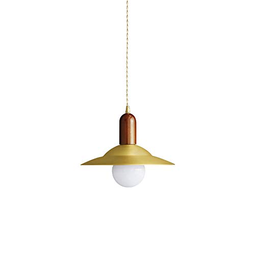 HYKCSS Personalidad nórdica Estilo industrial Chandelier de latón de latón Drop Light Single Head Creative Pendente Lámpara Estudio Patio Dormitorio Decoración E27