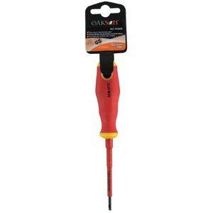 Oakson 763600 Tournevis Electrique Plat, 3x75 mm