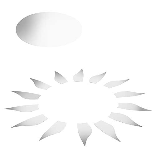01 - Adhesivo decorativo para pared, diseño de espejo, ecológico, sin olor, caja fuerte no tóxico para el salón