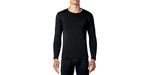 tex leaves Camiseta Interior Térmica para Hombre - Colores básicos a Elegir (Negro, M)