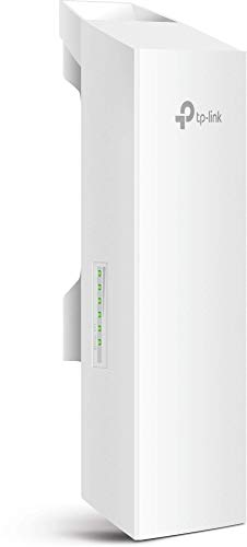 TP-Link Long Range Outdoor Wifi Transmitter – 2.4GHz, 300Mbps, High Gain Mimo Antenna, 5km+ Point to Point Wireless Transmission, Poe Powered W/ Poe Adapter Included, Wisp Modes (CPE210) (Renewed)