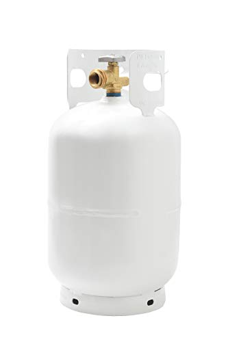 Flame King YSN011 11 Pound Steel Propane Tank Cylinder With Type 1 Overflow Protection Device Valve, Great For Camping, Fire Pits, Heaters, Grills, Overlanding