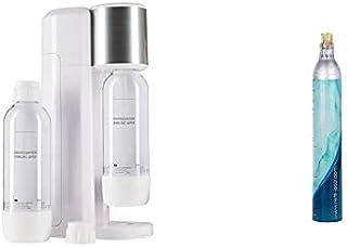 Levivo Kit de machine à eau gazeuse/comprenant une machine à gazéifier l'eau potable et 2 bouteilles de 0,75 l en PET + SE...