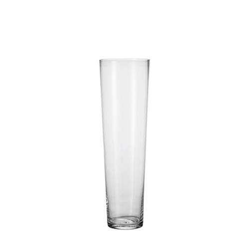 Leonardo Konisch Boden-Vase, handgefertigte Glas-Vase, konisch geformte Blumen-Vase, Deko-Vase aus Glas, mit massivem Eisboden, Höhe: 60 cm, 029547