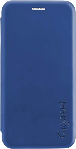 Gigaset Book Cover Case Full Body Schutzhülle (R&um Schutz vermeidet Schäden, anti-scratch, mit 360°, Zubehör für GS100 Smartphone) blau