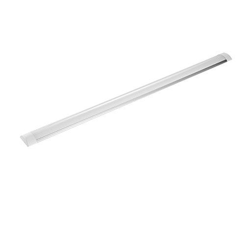 Tiras de luz de tubo LED Yuanline T10 led 30cm 60cm 90cm 120cm Tubo fluorescente de luz interior Ideal para interiores de hogar, oficina, cocina, dormitorio (Blanco cálido, 120cm)