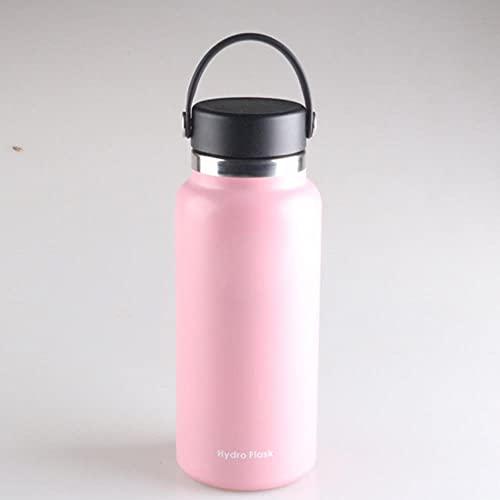 Botella de agua de boca ancha 2.0 con tapa de paja Acero inoxidable y boca ancha aislada al vacío con tapa flexible a prueba de fugas, Estados Unidos, 40 oz, tapa flexible 1