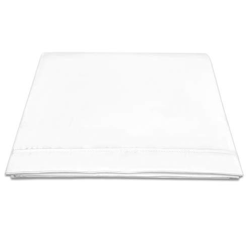 400 conteo de Hilos sábana encimera algodón 230x270 Blanco para Cama 150cm,...