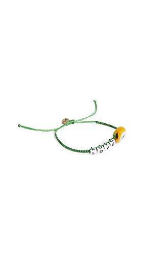 Maison Irem Women's Message Bead Eye Bracelet, Love Green, One Size